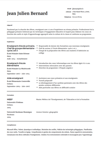 Modele De Cv Pour Infirmier Onlinecv
